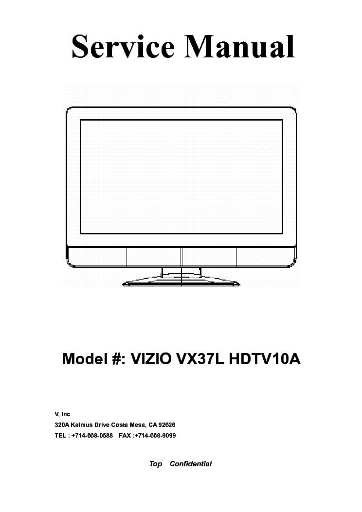 vizio vx37l hdtv10a service manual download schematics eeprom rh elektrotanya com Vizio VX37L Won't Turn On Vizio TV