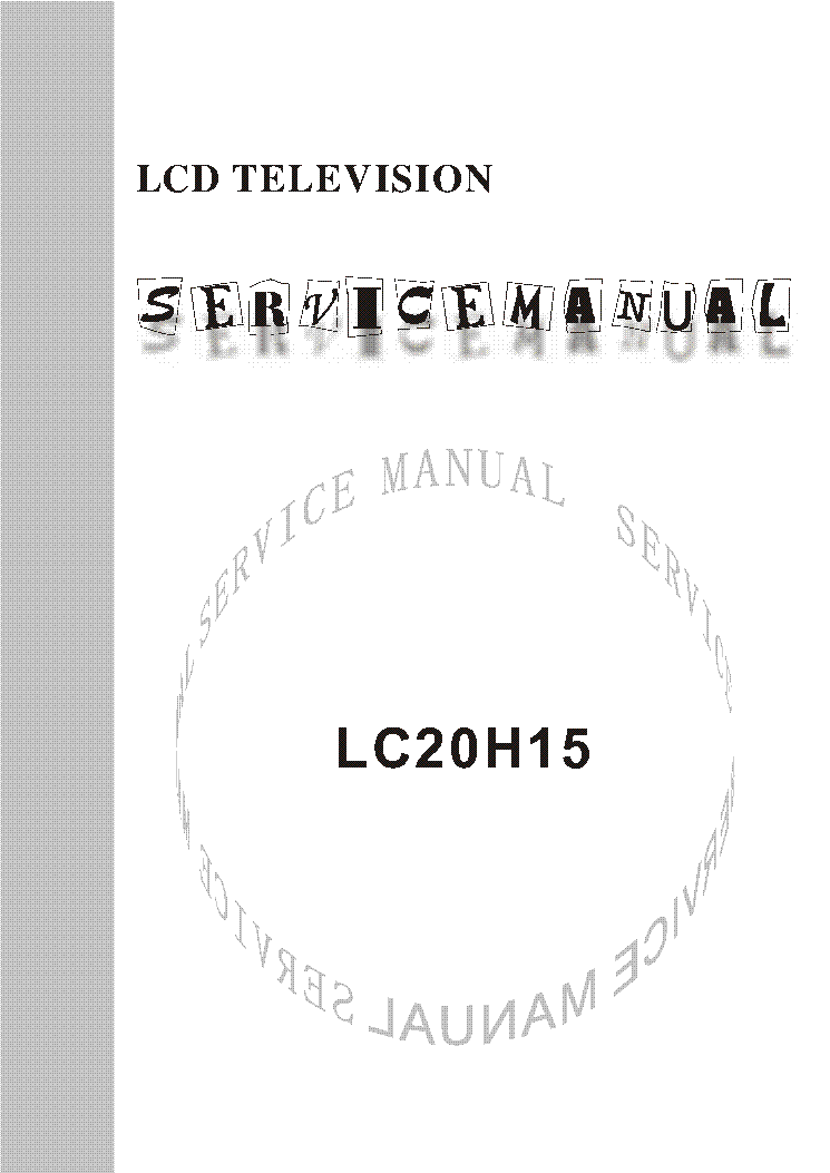 Repair manual for vizio tv.