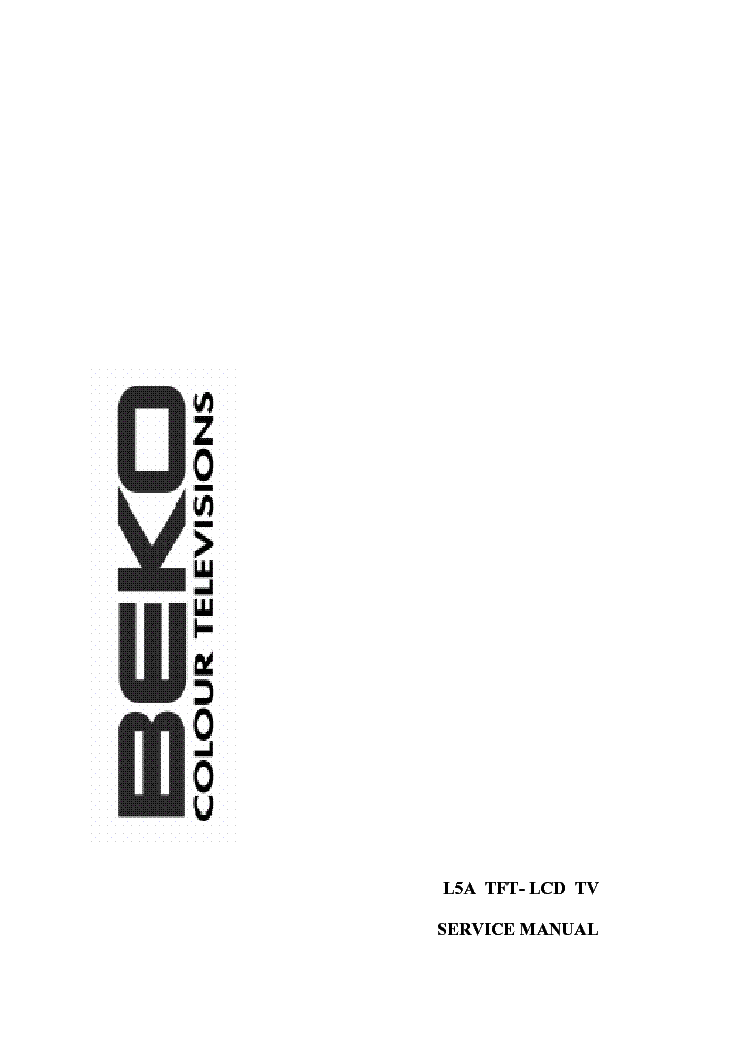 BEKO LCD L5A TFT service manual (1st page)