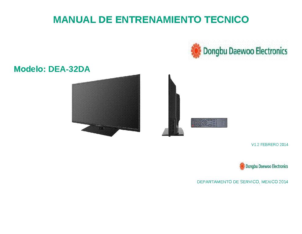 daewoo dea 32da led tv technical manual service manual download rh elektrotanya com Makers Service Repair Manual Manufacturers Auto Repair Service Manuals
