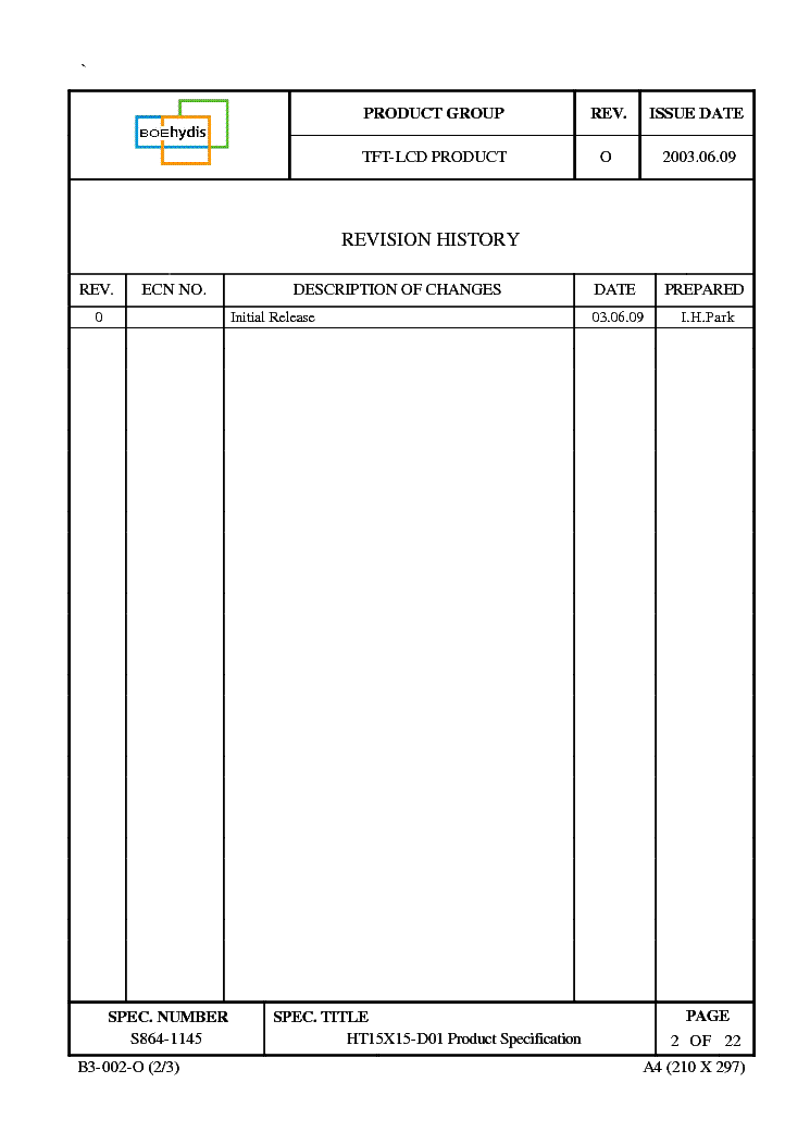 HT15X15-D01 LCD service manual (2nd page)