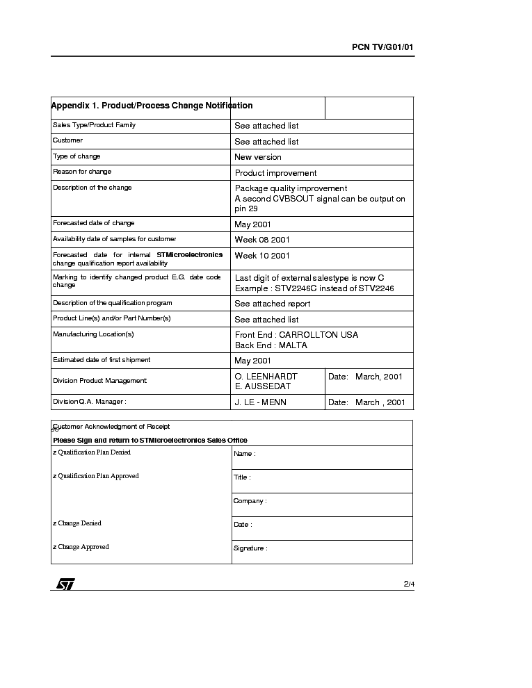 STV224XC CSEREINFO service manual (2nd page)