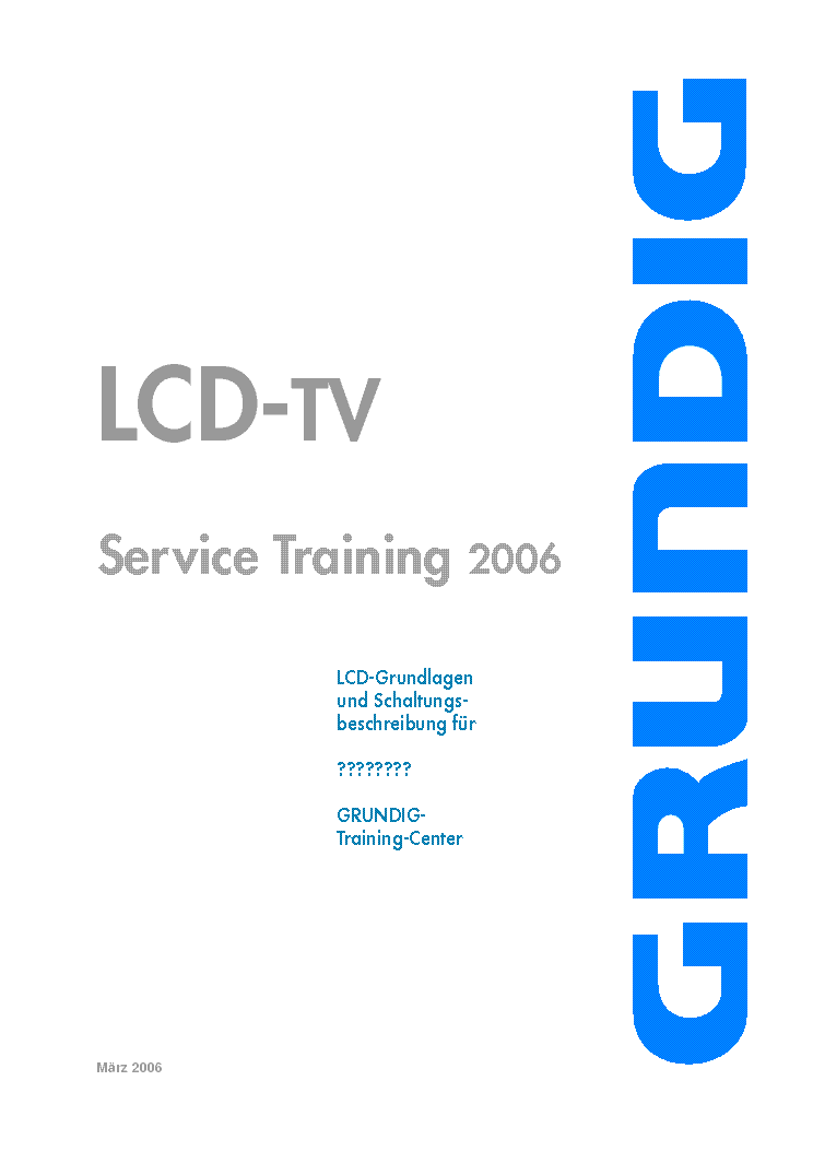 GRUNDIG CHASSIS L5C TRAINING 2006 service manual (1st page)