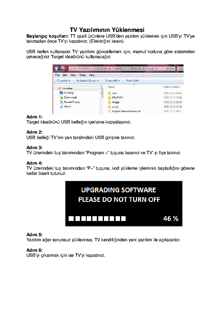 GRUNDIG TT CHASSIS SOFTWARE UPDATE service manual (1st page)