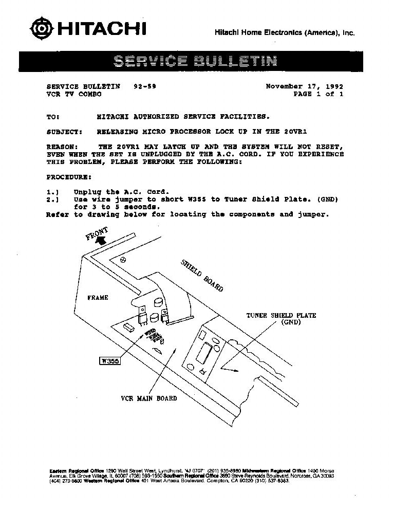 hitachi 42pd7200 service manual