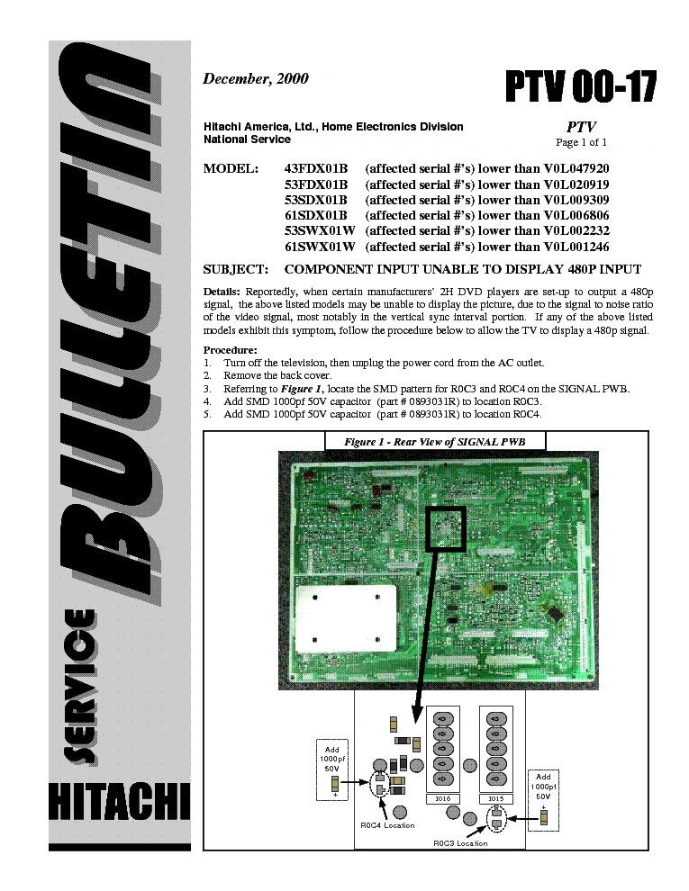 hitachi 43 53fdx01b 53 61sdx01b 53 61swx01w ptv 00 17 service manual rh elektrotanya com Verizon LG Cell Phone Manual Honeywell Pressuretrol Manual
