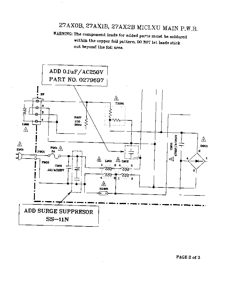 HITACHI CHASSIS M1LXU 94-09SB service manual (2nd page)