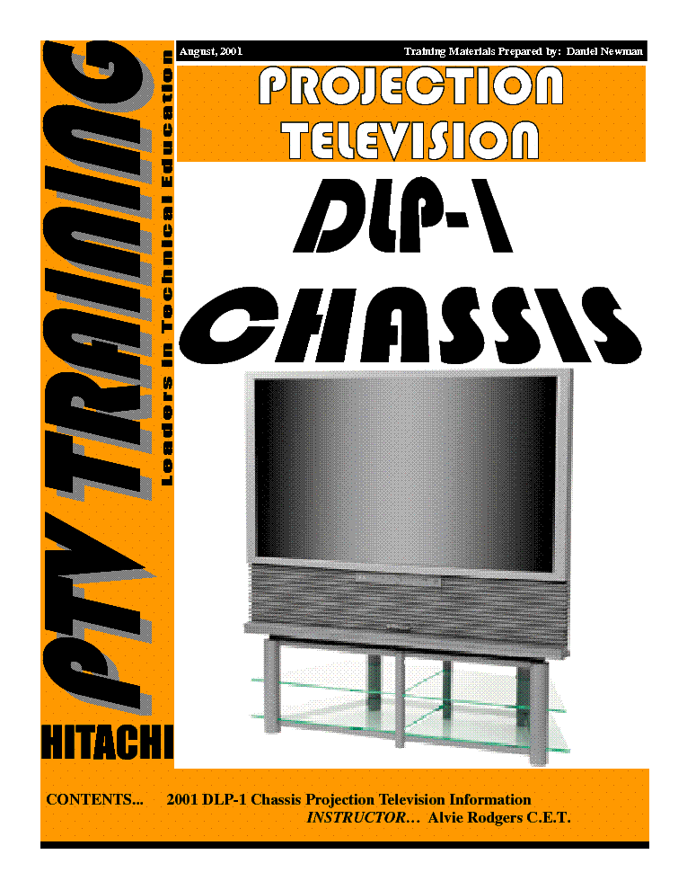 HITACHI DLP-1 CHASSIS TRAINING GUIDE service manual (1st page)