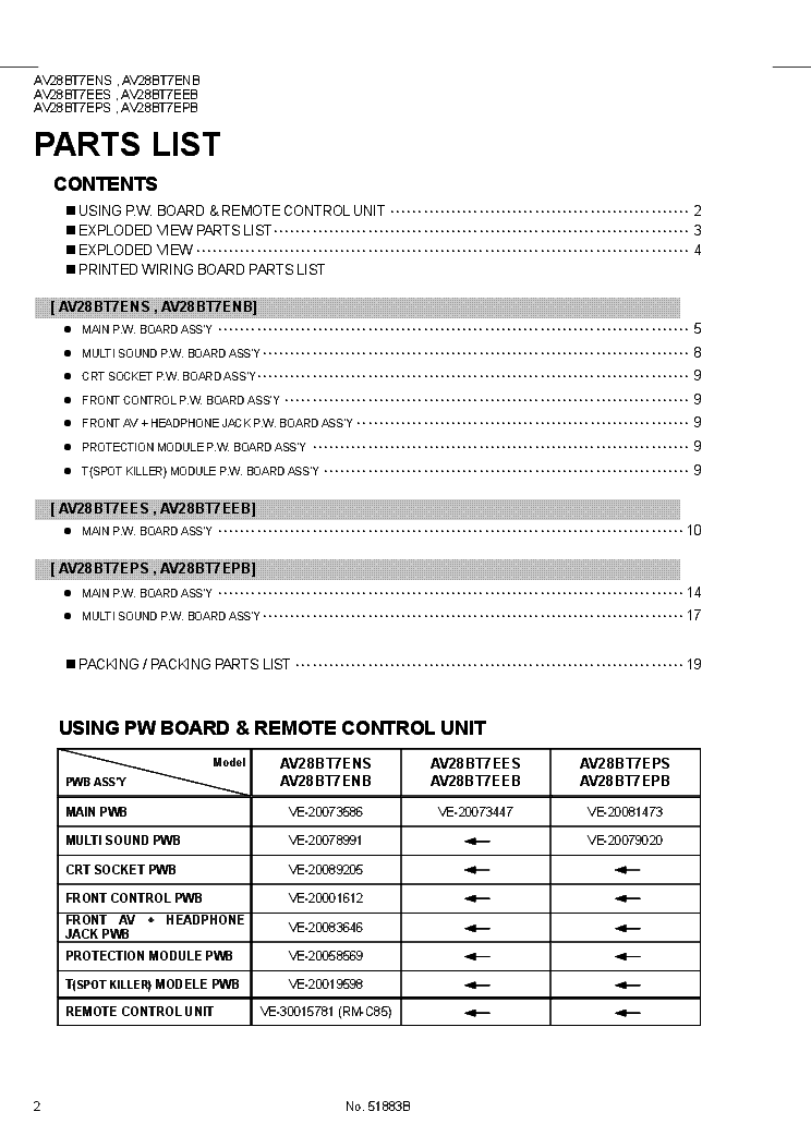 JVC AV28BT7E 11AK19Y11 SUPPLEMENT service manual (2nd page)