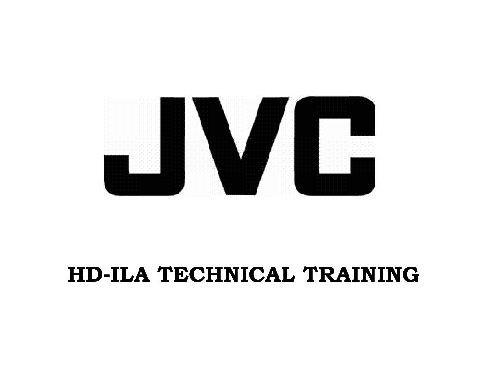 JVC HD-ILA TRAINING MANUAL service manual (1st page)