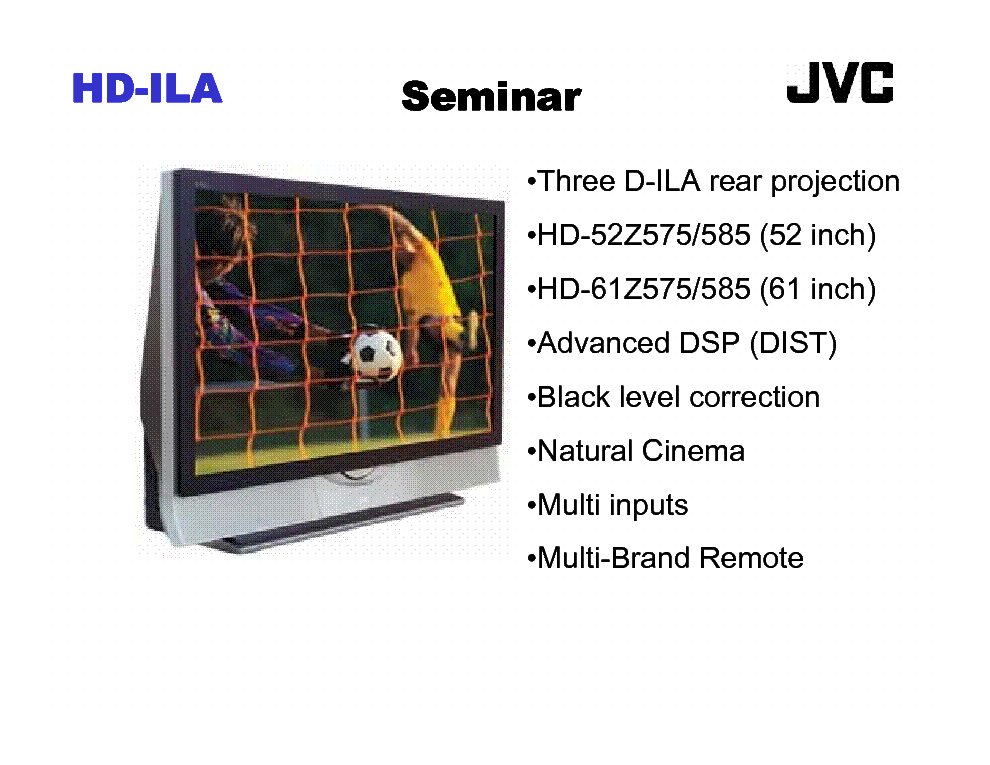 JVC HD-ILA TRAINING MANUAL service manual (2nd page)