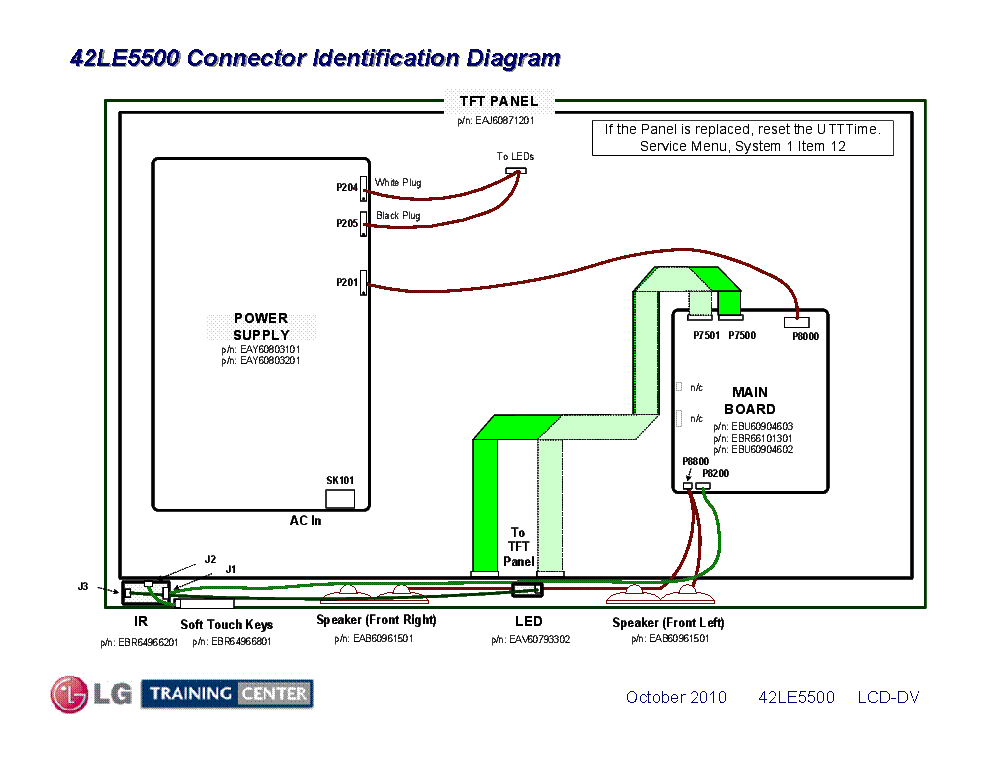 LG 42LE5500 CONNECTOR-DIAGRAM Service Manual download