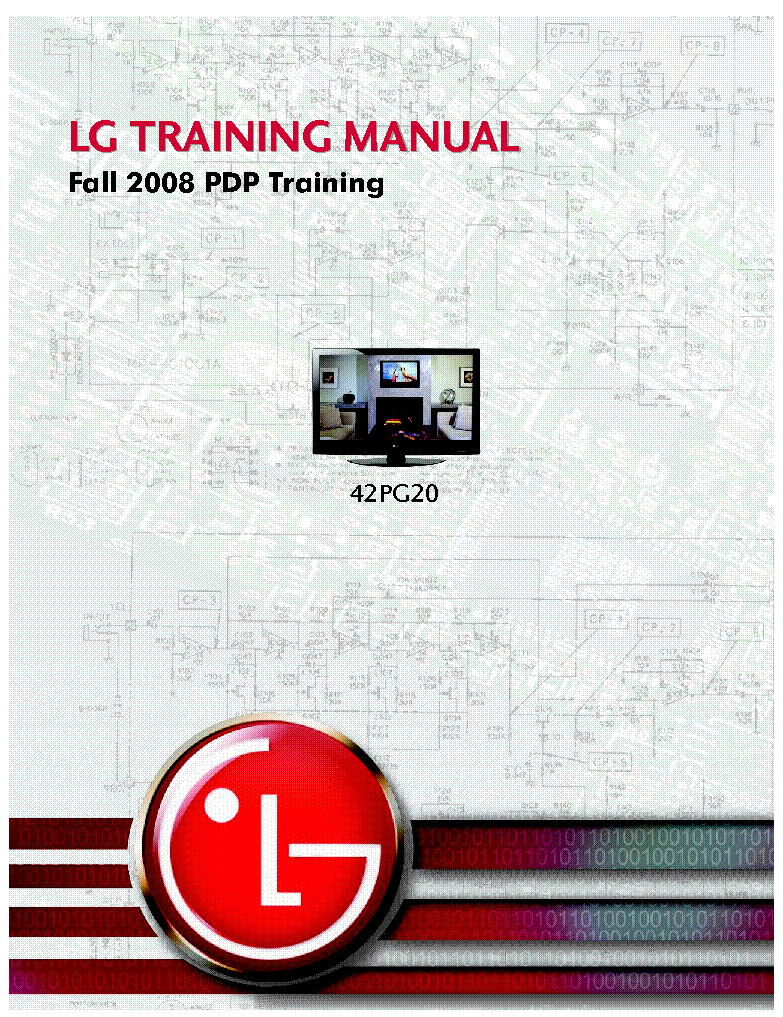 LG 42PG20 TRAINING MANUAL 2008 service manual (1st page)