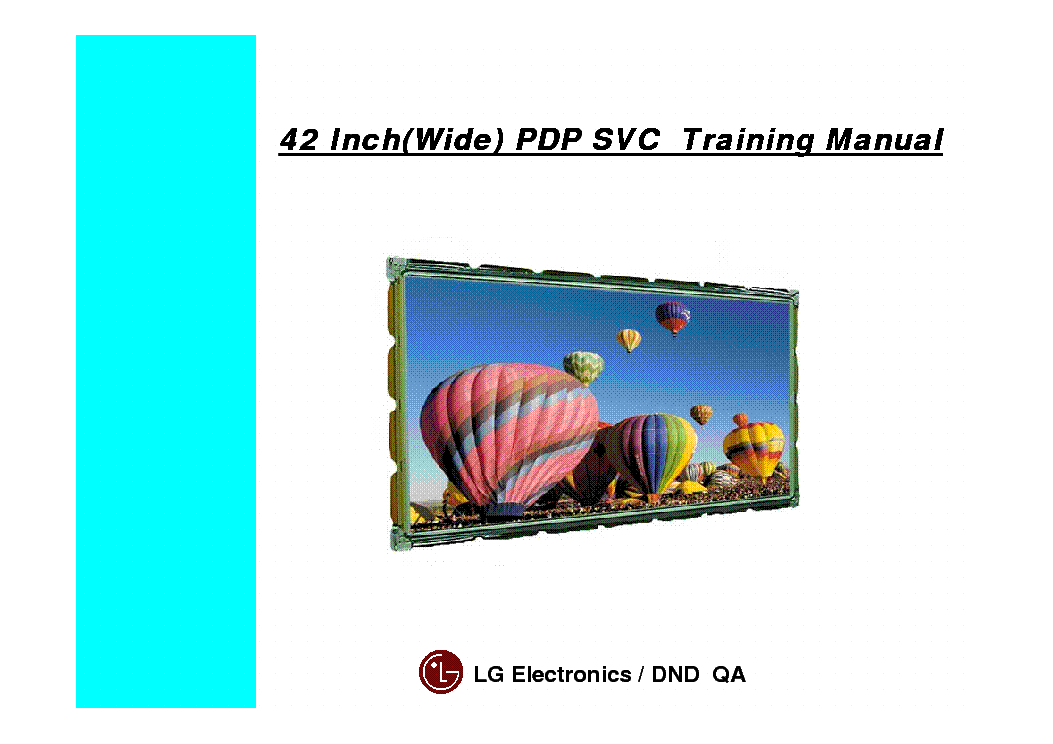 LG MN-42PZ10 PDP-SVC TRAINING-MANUAL service manual (1st page)