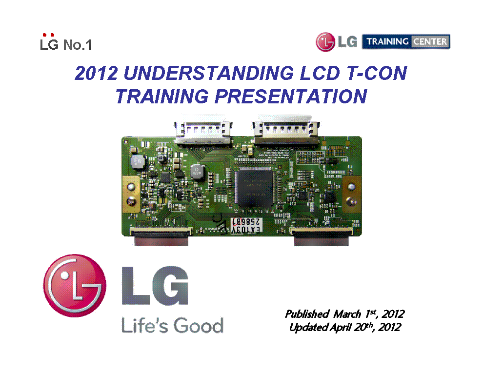 LG T-CON TRAINING MANUAL 2012 service manual (1st page)