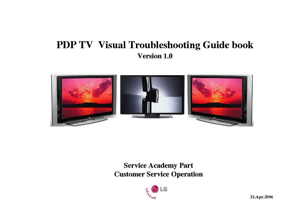 LG ZENITH PDP VISUAL TROUBLESHOOTING service manual (1st page)