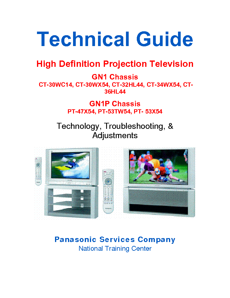 PANASONIC-CHASSIS-GN1 GN1P HDTV service manual (1st page)