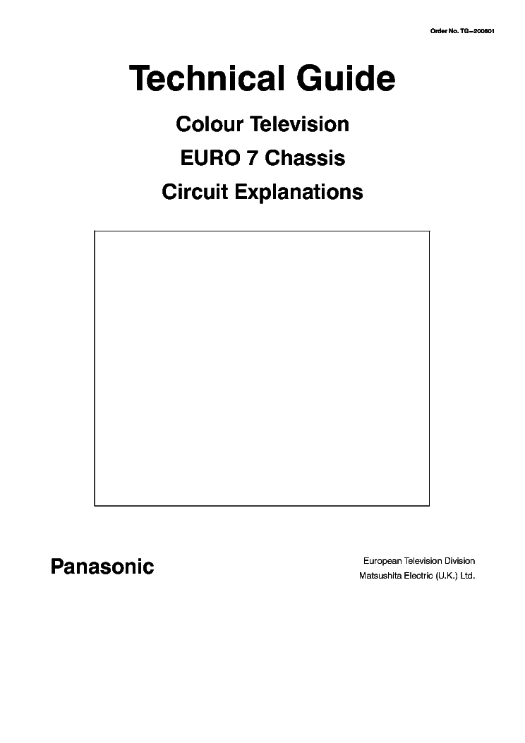 PANASONIC EURO-7 TECHNICAL-GUIDE service manual (1st page)