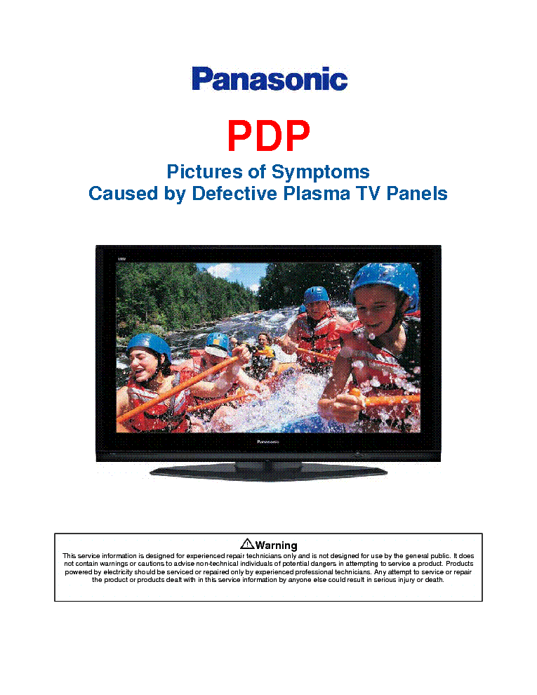 PANASONIC PDP PICTURES OF SYMPTOMS 2007 service manual (1st page)
