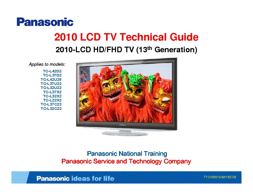 Panasonic Tc-l32u22 Manual Download