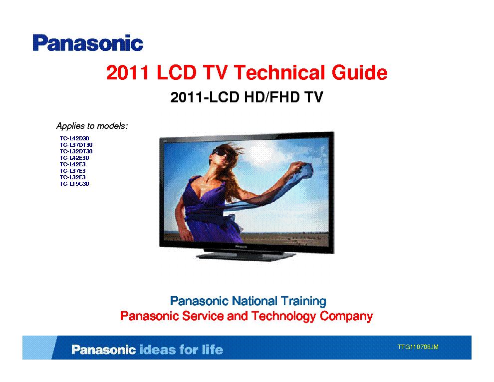 panasonic tx 32lx60 26lx60 series full service manual repair guide