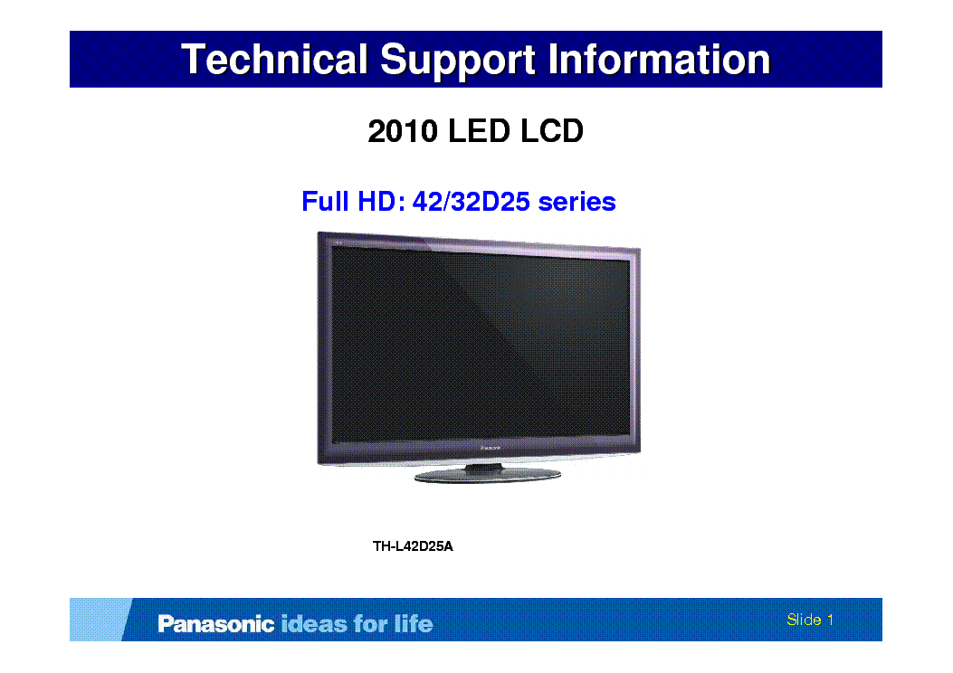 PANASONIC TH-L42D25A service manual (1st page)