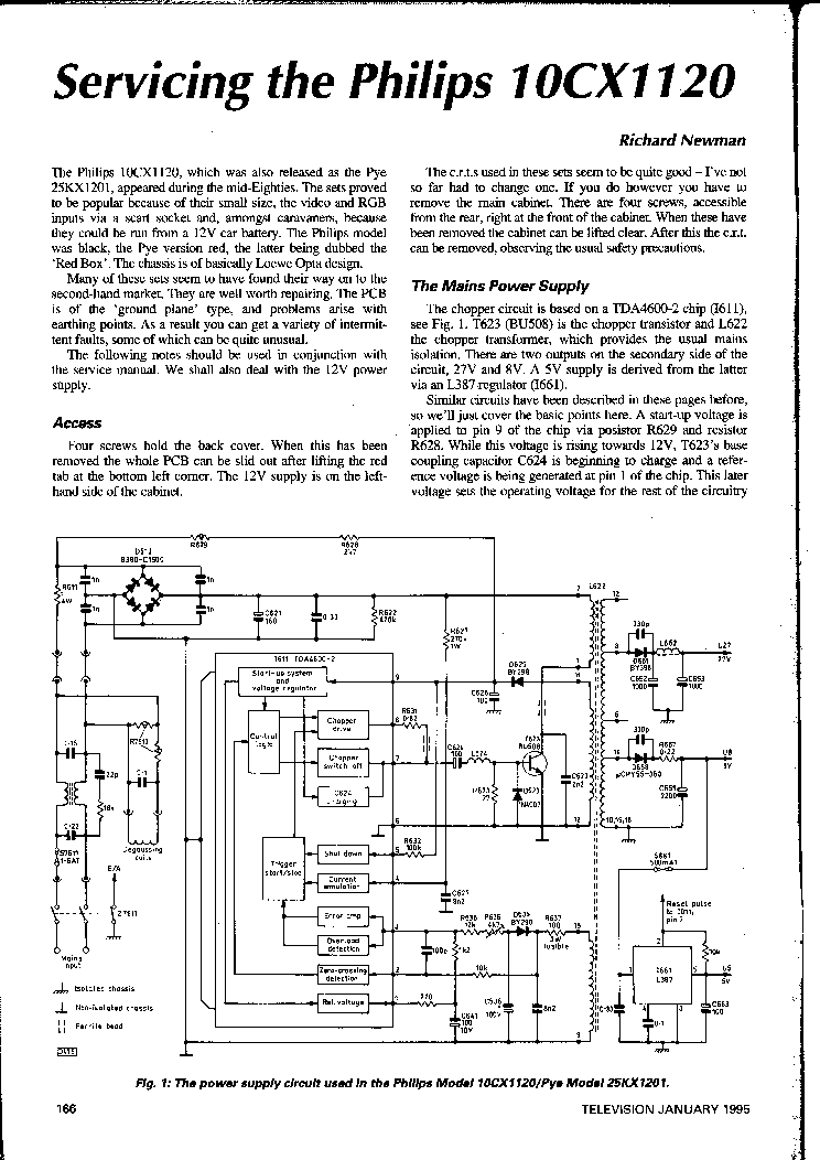 PHILIPS 10CX1120 SERVICE-INFO service manual (1st page)