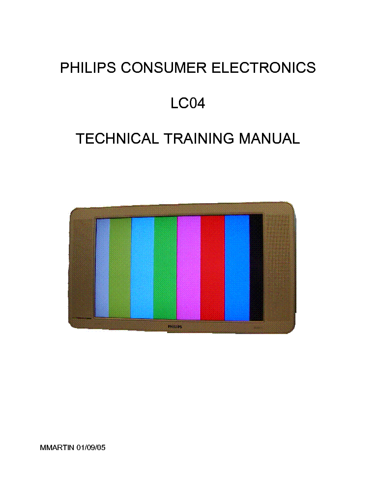 PHILIPS CHASSIS LC04 TRAINING MANUAL service manual (2nd page)