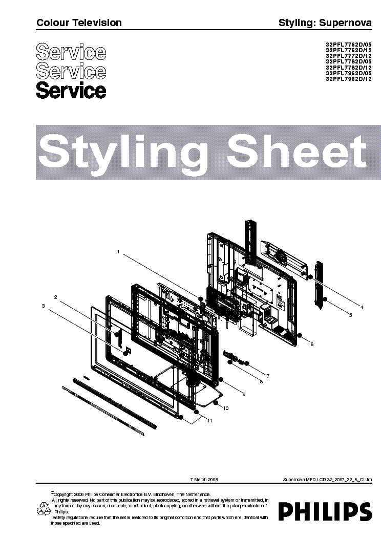 PHILIPS SUPERNOVA-32 STYLING SHEET 2007 service manual (1st page)