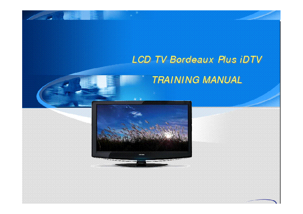 SAMSUNG BORDEAUX PLUS IDTV TRAINING service manual (1st page)