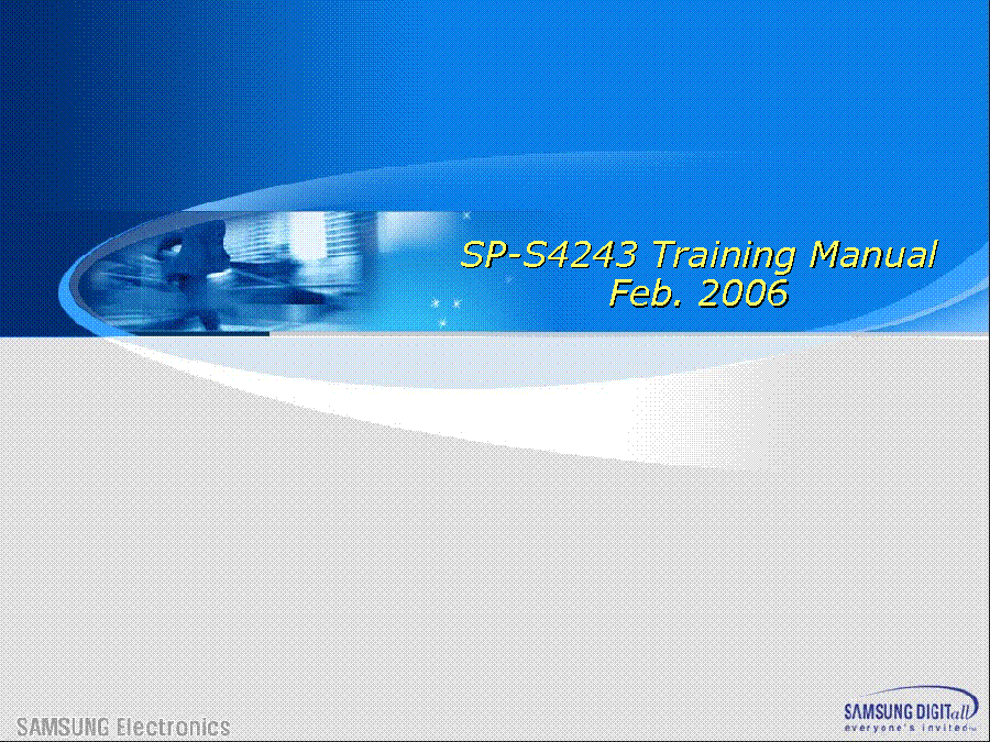 SAMSUNG HP-S5073C S5053 S5033X S4253X S4233X R6372X R5072CX SP-S4243 TRAINING service manual (1st page)