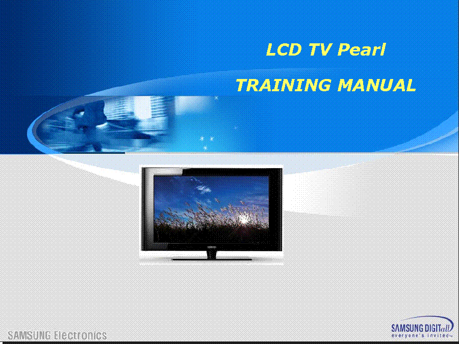 SAMSUNG LN46A550P3FXZA LN40B550K1FXZA LN40A530P1FXZA LN37B530P7FXZA PEARL TRAINING service manual (1st page)