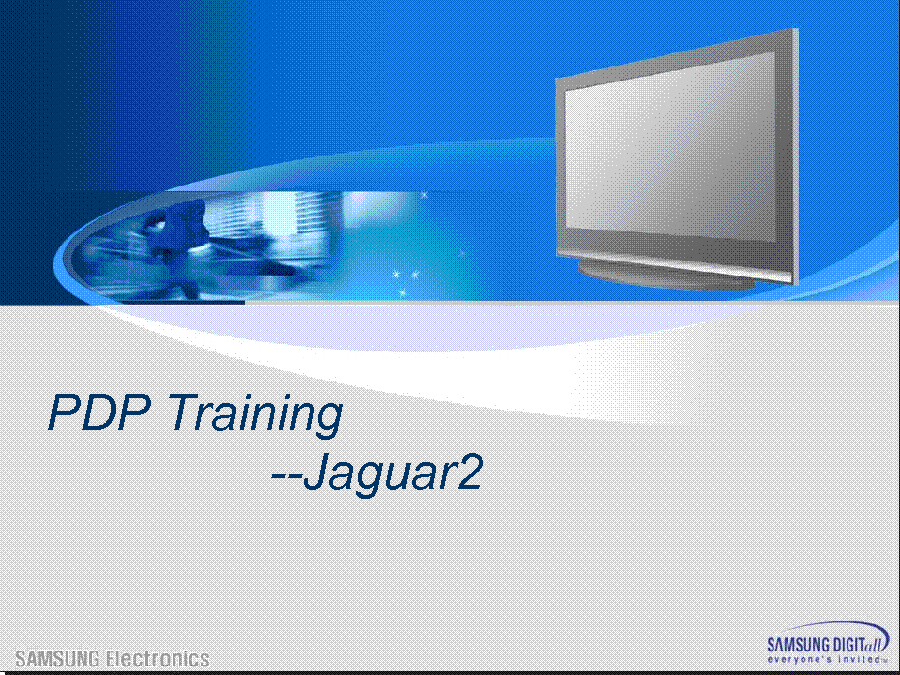 SAMSUNG NS-42P650A11 PS42Q7HD JAGUAR2 PDP TRAINING service manual