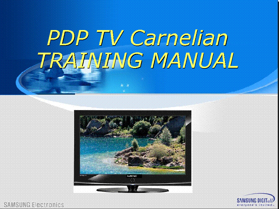 SAMSUNG PN42A410C1D PN50A410C1D PN50A400C2DXZA PN42A400C2DXZA CARNELIAN TRAINING service manual (1st page)