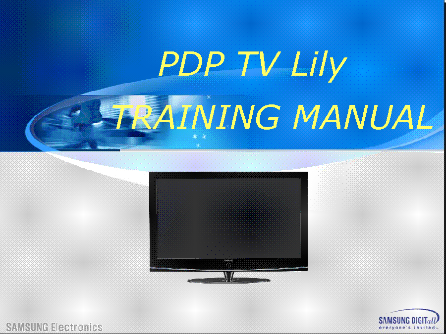 SAMSUNG PS-42C91H PS-50C91H LILY PDP TRAINING service manual (1st page)