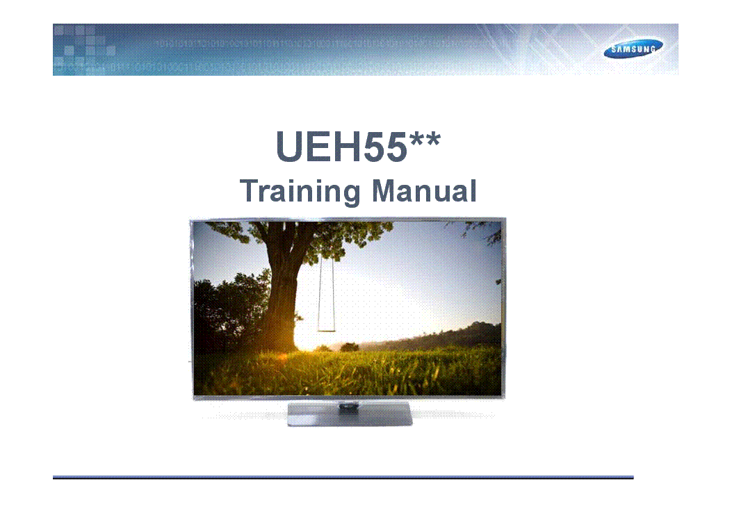 SAMSUNG UE32H5570SSXZG UEH55XX SERIES TRAINING service manual (1st page)
