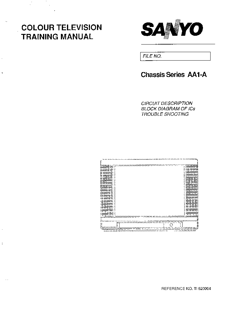SANYO AA1-A SERIES CHASSIS TRAINING MANUAL service manual (1st page)