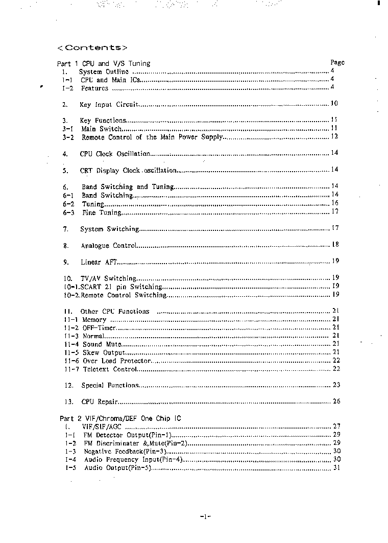 SANYO CHASSIS A3-A TRAINING MANUAL service manual (2nd page)