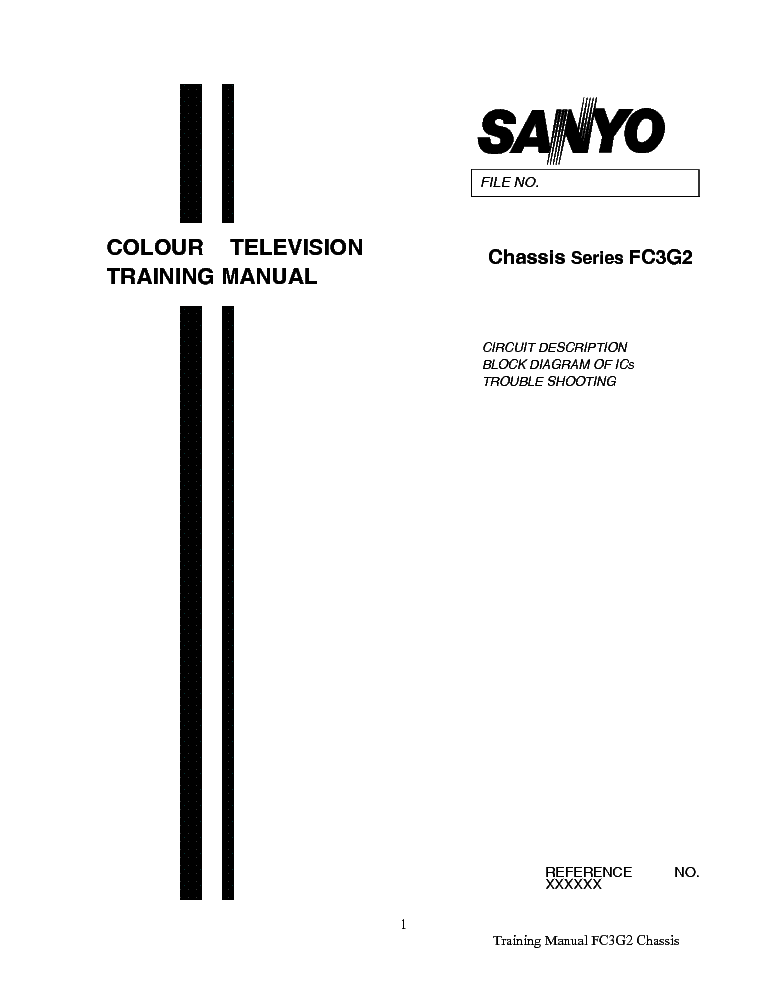SANYO FC3G2 SERIES CHASSIS TRAINING MANUAL service manual (1st page)