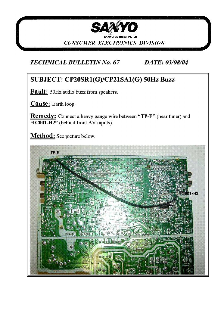 sanyo tv manual dp46840 problems