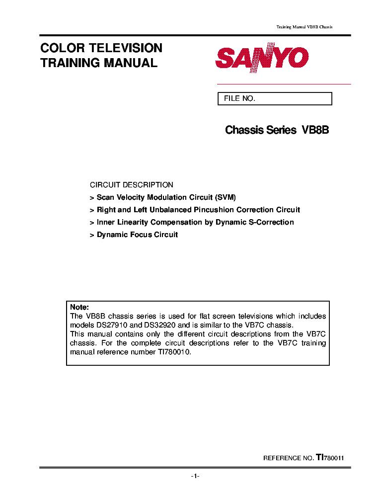sanyo dp46840 owners manual