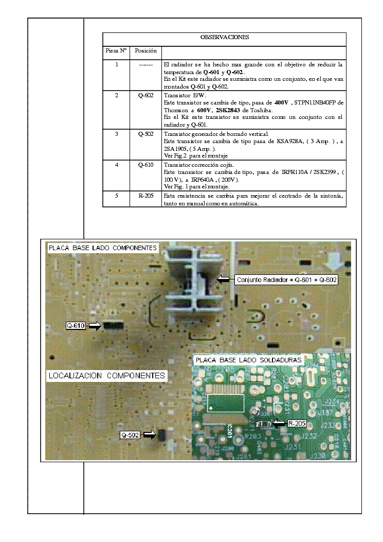 SHARP GA10 CHASSIS BULETINS service manual (2nd page)
