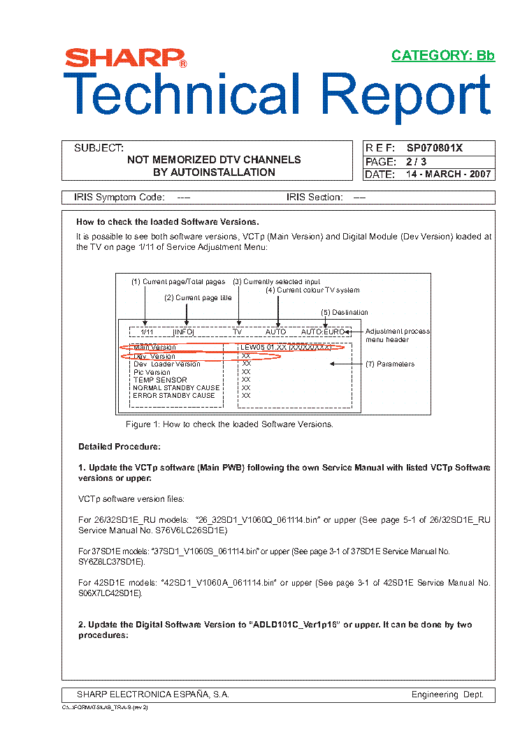 SHARP LC26-32-37-42XX TECH REPORT SP070801X service manual (2nd page)