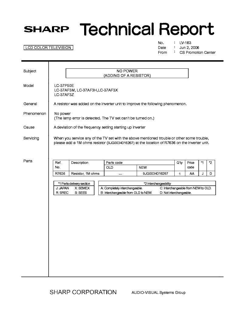 Sharp Lc37p50e