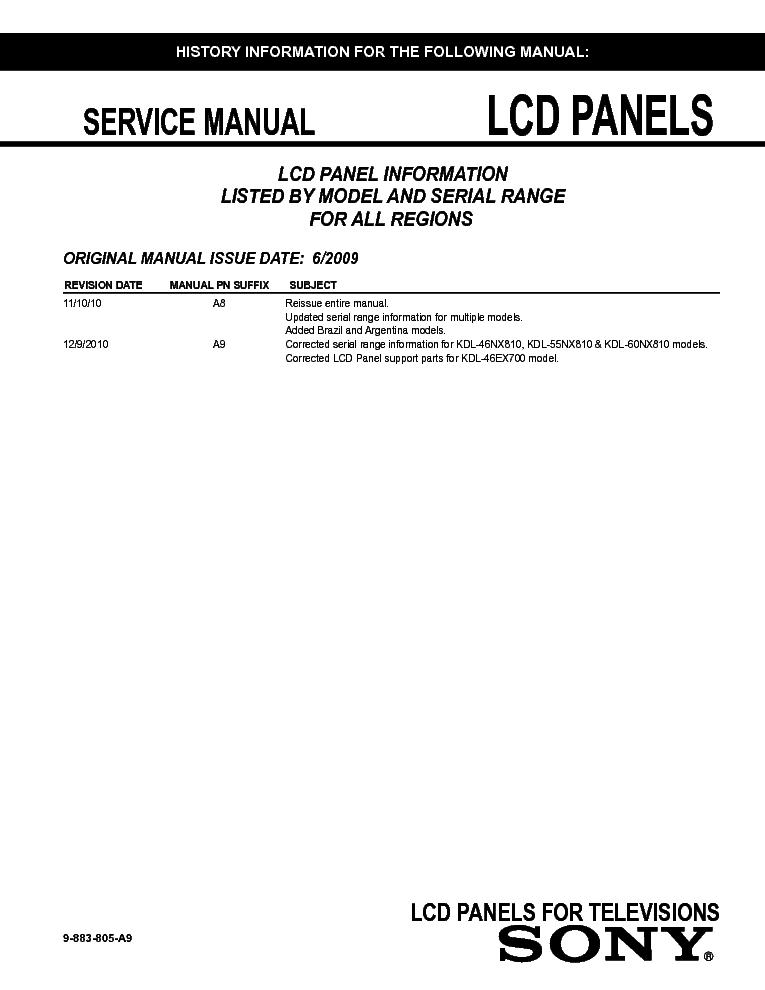 sony kdl19m4000 lcd panel info pdf service manual download rh elektrotanya com sony bravia klv32s400a service manual sony bravia klv32s400a service manual