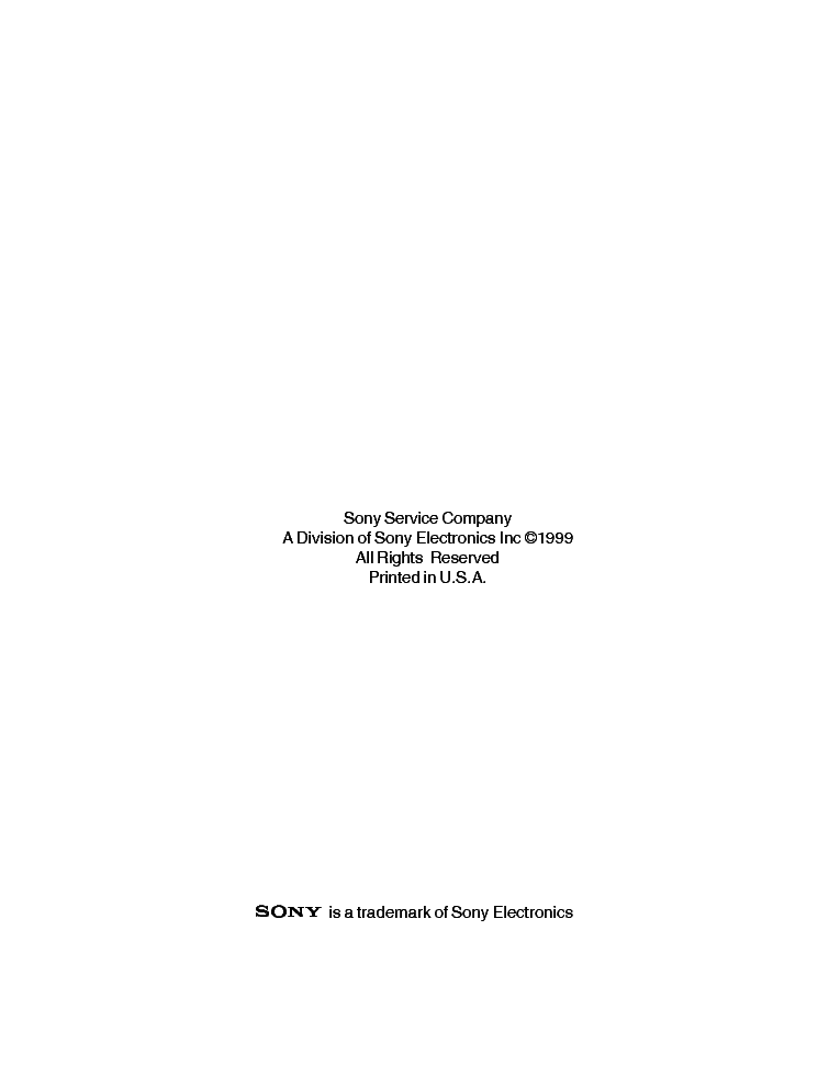 SONY TVP-09 RA-3 CHASSIS TRAINING MANUAL service manual (2nd page)