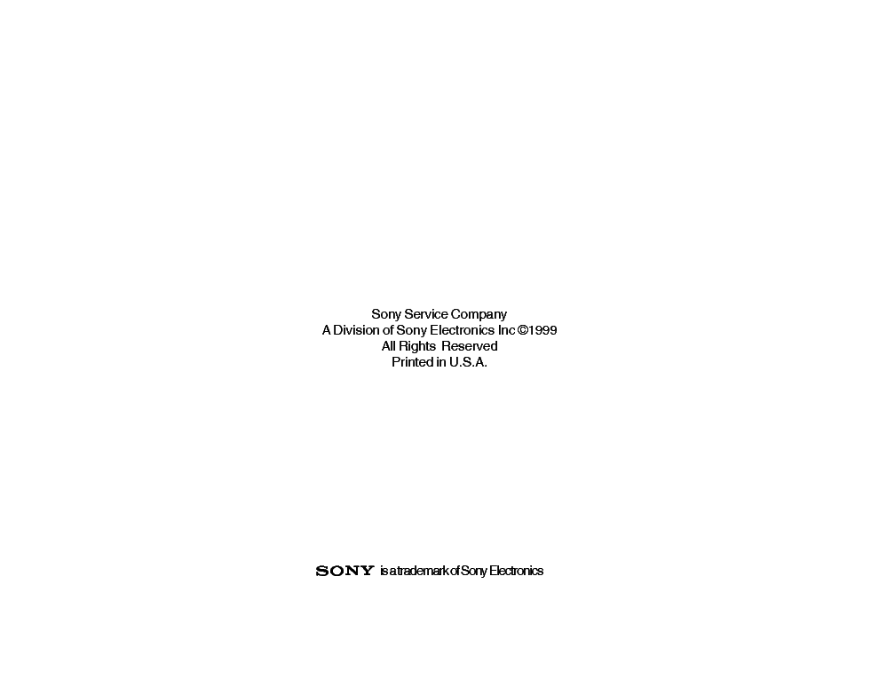 SONY TVP-10 RA-3 RA-4 CHASSIS TRAINING MANUAL service manual (2nd page)