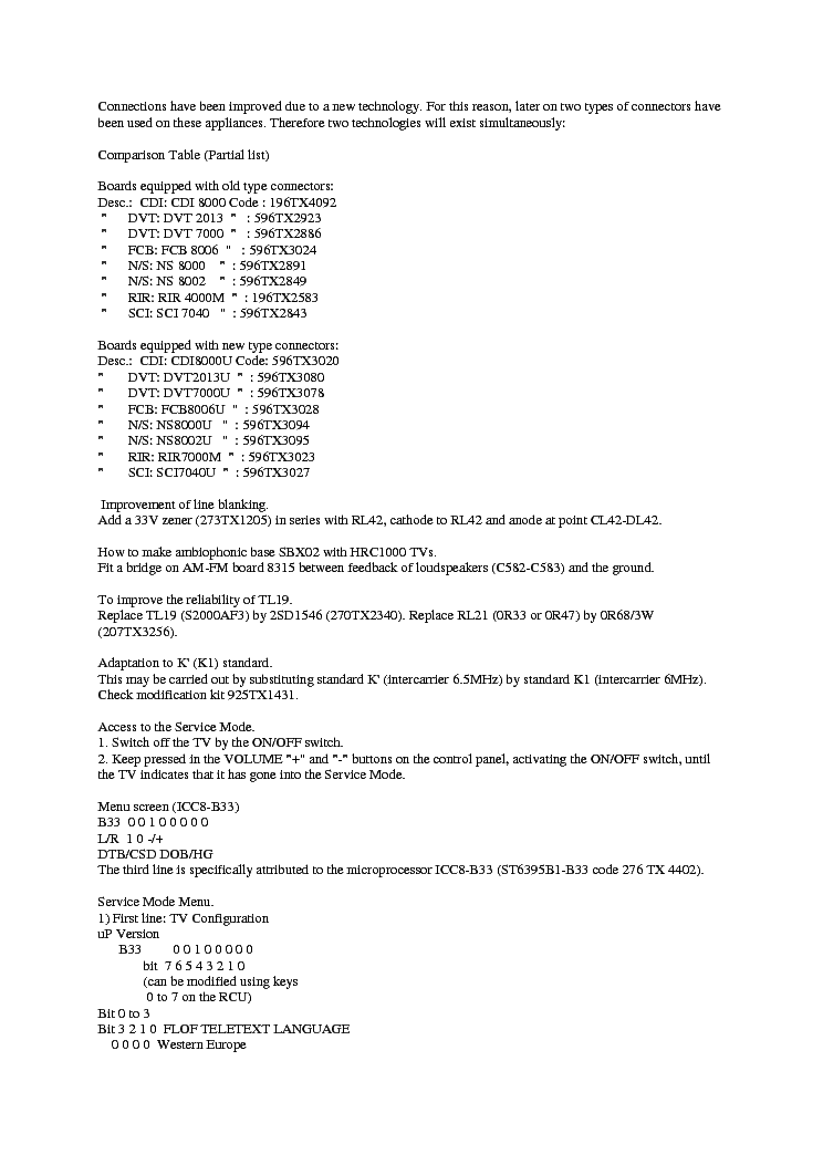 SERVICE TIPS CHASSIS ICC8  service manual (2nd page)