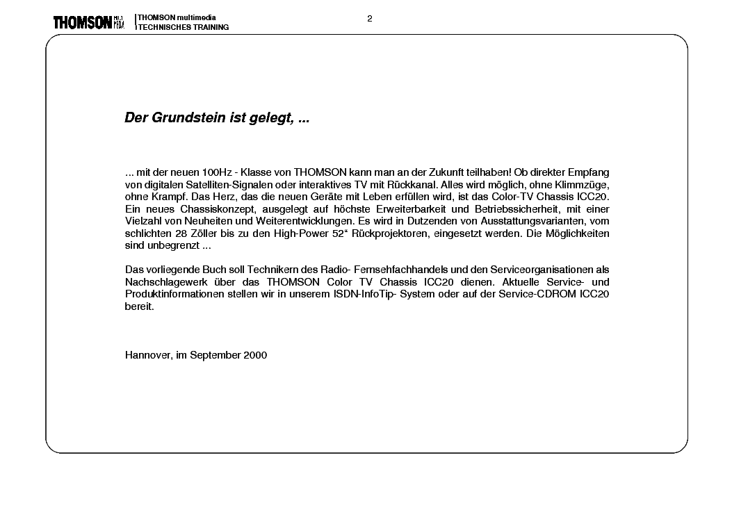 THOMSON ICC20 INFO service manual (2nd page)