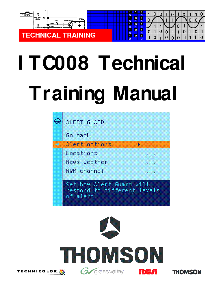 THOMSON ITC008 TRAINING service manual (1st page)